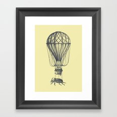 Discovery (grey on yellow) Framed Art Print