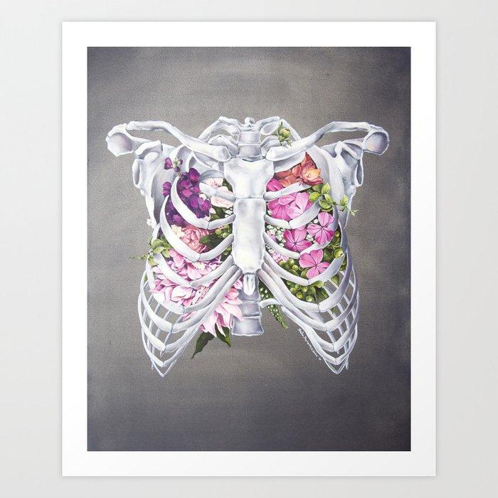 Floral Ribcage Art Print By Trishathompson Society6