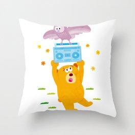 bring the noize Throw Pillow