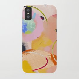 circles art abstract iPhone Case
