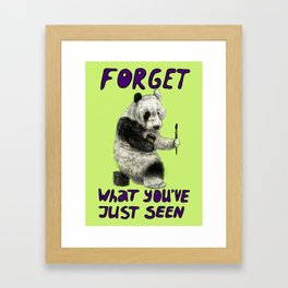 Conspiracy // false panda Framed Art Print