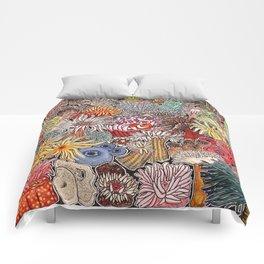 Clown fish and Sea anemones Comforters