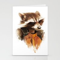 rocket raccoon Stationery Cards featuring Rocket by Colien