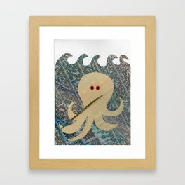 Swimming Octopus Framed Art Print