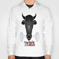 taurus Hoodies featuring Taurus by LBH Dezines