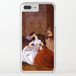 lorde in 'the reluctant bride' by auguste toulmouche, 1866 Clear iPhone Case