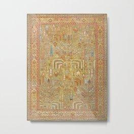 Large Antique Turkish Oushak Rug Print Metal Print