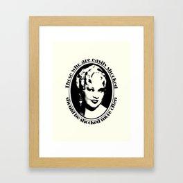 Mae West Framed Art Print