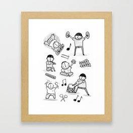 play the music! Framed Art Print