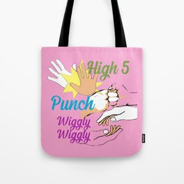 High 5 Punch Wiggly Wiggly Tote Bag