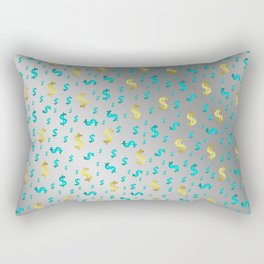 gold,blue silver metal dollar Rectangular Pillow
