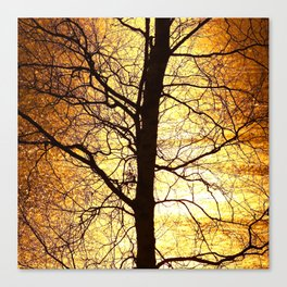 Tree Silhouette At Sunset #decor #society6 Canvas Print