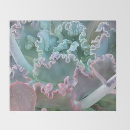 Succulent in the Sand Throw Blanket