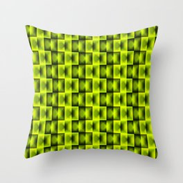 Fashionable large plaids from small yellow intersecting squares in a chess cage. Throw Pillow