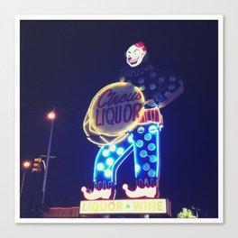 Circus Liquor Neon Sign Canvas Print