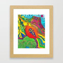 Psycho-Delic Dan Framed Art Print