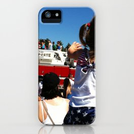 Wave to the Fireman! iPhone Case