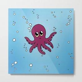 Little octopus Metal Print