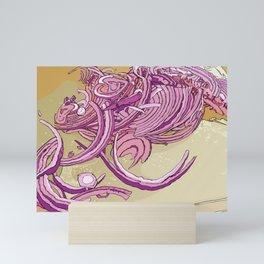 Red Onions Mini Art Print