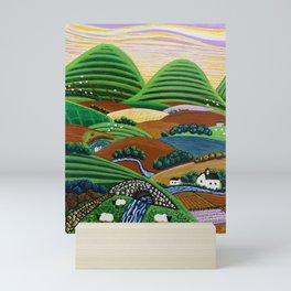 Vibrant Hills Mini Art Print