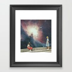 Viewing Steps Framed Art Print