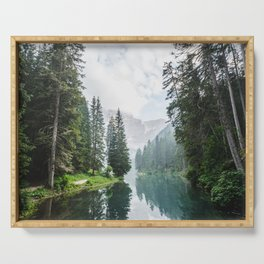 Forest Reflection in Italy Serving Tray