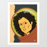 ripley Art Prints featuring Ripley  by Arlin Ortiz