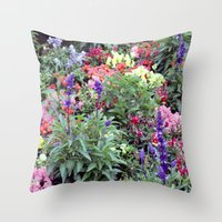 sweden Throw Pillows featuring Sweden Flowers by Cynthia del Rio