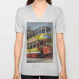 Leeds Tram 399 Unisex V-Neck