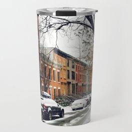 Brooklyn New York City Snow Showers Travel Mug