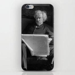 Mark Twain - American Author and Humorist iPhone Skin