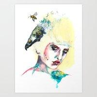 Baby Vulture Art Print