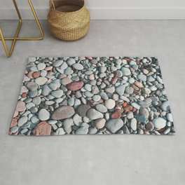 pebble stone floor, nature pattern background Rug