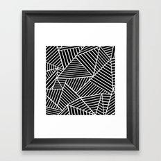 Ab Lines Zoom Black Framed Art Print
