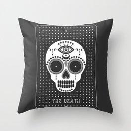 Minimal Tarot Deck The Death Throw Pillow