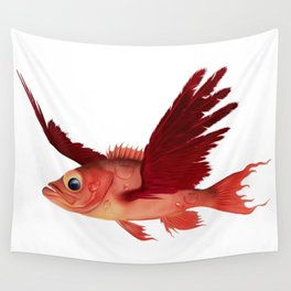 The flying fish Wall Tapestry
