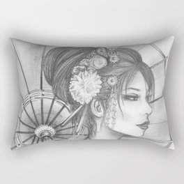 Elegant Oriental Japanese Geisha by Ashley Rose Standish Rectangular Pillow