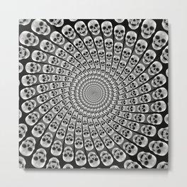 Spiral of Skulls Metal Print