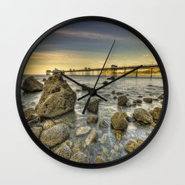 A Rocky Sunset Wall Clock