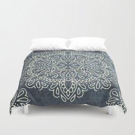 Mandala Vintage Ivory Blue Duvet Cover