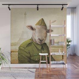 Private Leonard Lamb visits Paris Wall Mural