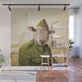 Private Leonard Lamb visits Paris Wall Mural