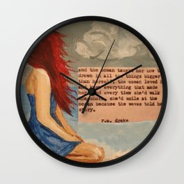 The Waves Told Her Story Wall Clock