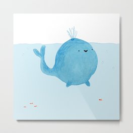 The Enigmatic Pudding Whale Metal Print