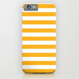 Beer Yellow and White Horizontal Beach Hut Stripes iPhone Case
