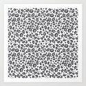 Cheetah pattern animal spots animal print pattern minimal black and white by charlottewinter