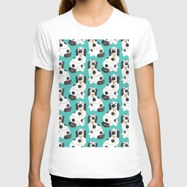 Staffordshire Dog Figurines No. 2 in Vivid Jade T-shirt