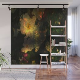 Frightening Glow in the Flowers Wall Mural