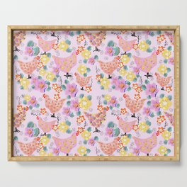 Floral Easter  pattern  Serving Tray