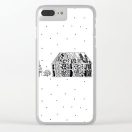 winter greenhouse illustration Clear iPhone Case
